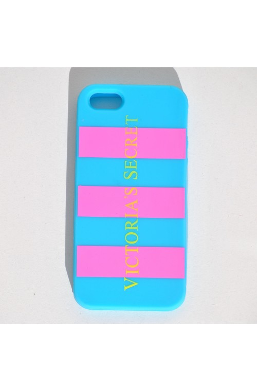 FUNDA IPHONE 4 rayas AZUL-ROSA