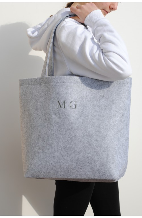 "BOLSO SHOPPER FIELTRO ""MG"""