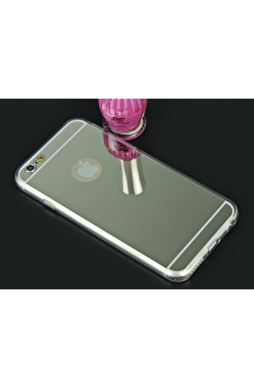 FUNDA IPHONE 5c efecto metal PLATEADO